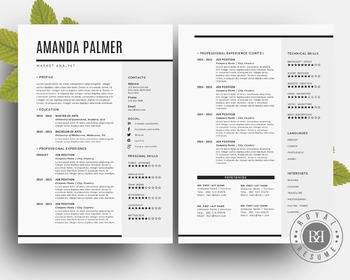 Creative resume pack template Word