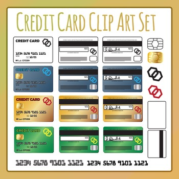 Credit Card / Charge Card Clip Art for Commercial Use