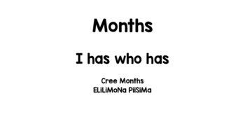 Cree Months I Have.. Who Has