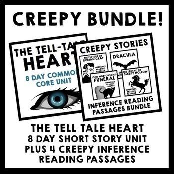 Creepy Bundle - Tell Tale Heart Short Story Unit + 4 Infer