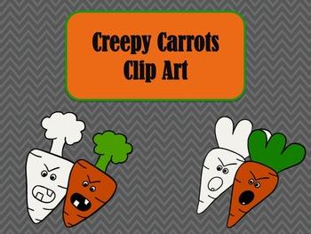 Creepy Carrots Clip Art Blackline and Color