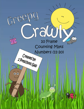 Creepy Crawly 10 Frame Counting Mats (11-20)