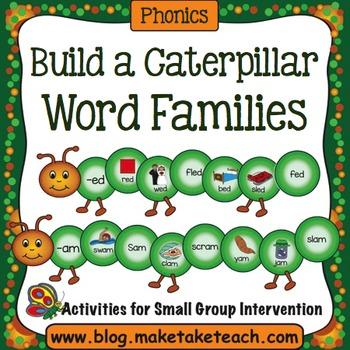 Word Families - Creepy Crawly Caterpillars