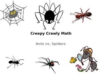 Creepy Crawly Math: Ants vs. Spiders PowerPoint