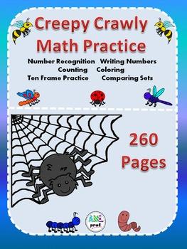 Creepy Crawly-  Math Interactive Notebook