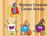 Creepy Creature Halloween Center Activity