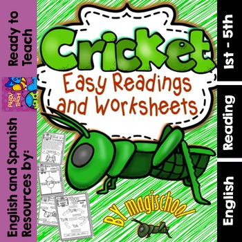Cricket ( Ready to Print Easy Readings and Worksheets)