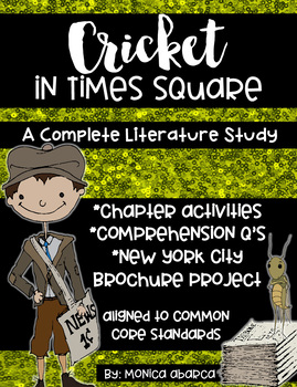 Cricket in Times Square Print & Go Chapter Activities and