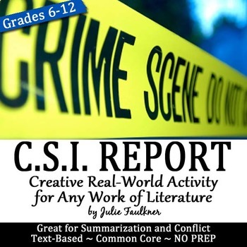 Crime Scene Investigator Police Report, Creative, Text-Bas
