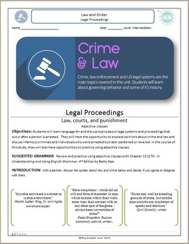 Crime and Law (Unit C Packet): Legal Proceedings (with adj