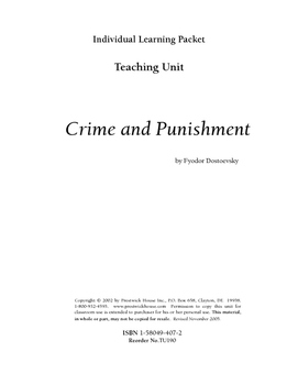 Crime and Punishment Teaching Unit