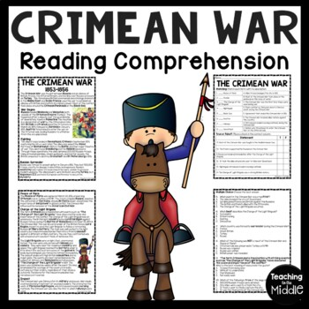 Crimean War Reading Comprehension Worksheet, Charge of the