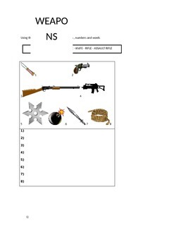 Crime/police work vocabulary revision - ESL students