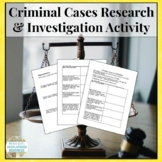 Criminal Cases Investigation Research Activity - Law & Justice