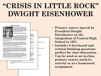 """Crisis in Little Rock"" - Dwight Eisenhower - USH/APUSH"