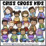 Criss Cross Kids Clip Art - Whimsy Workshop Teaching