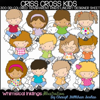 Criss Cross Kids Clipart Collection