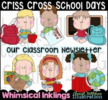 Criss Cross School Days Clipart Collection NO LICENSE REQUIRED!