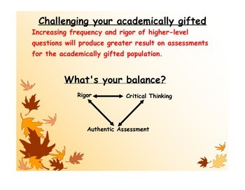 Criterion-based grading to challenge your academically gifted