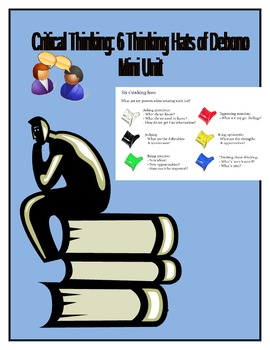 Critical Thinking: 6 Thinking Hats of Debono - Mini Unit