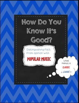 Critical Thinking Activity:  How Do You Know It's Good?