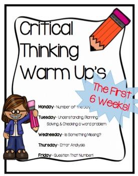 Math Warm- Ups - Critical Thinking