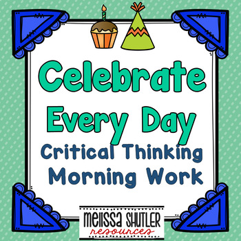 Critical Thinking Morning Work for August through December