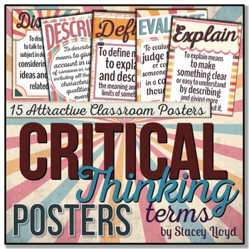 Critical Thinking Terms Posters