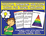Critical Thinking Question Cards for Young Children PLUS C