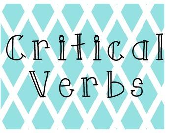 Critical Verbs Poster