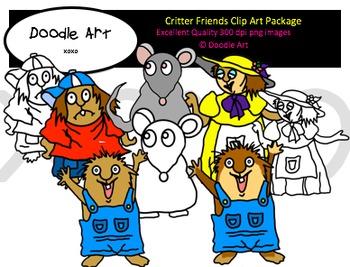 Critter Friends Clipart Pack