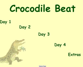 Crocodile Beat Guided Reading Weekly Lesson Plan - Four Bl