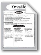 Crocodile Shape Book