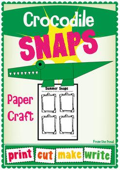 Crocodile Snap Craftivity - Summer Snaps!