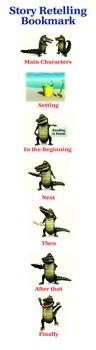 Crocodile Story Retelling Bookmark- K-5