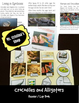 Crocodiles and Alligators Reader/Lap Book