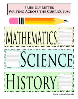 Cross Curricular Writing Friendly Letter Math Science Hist