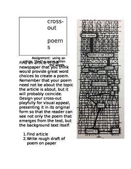 Cross-out Poem