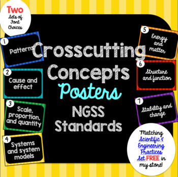 Crosscutting Concepts Posters NGSS (Next Generation Scienc