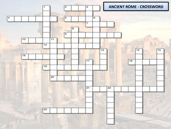 Crossword - Ancient Rome