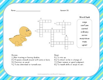 Crossword Puzzle - The Mysterious Tadpole - Journeys Aligned