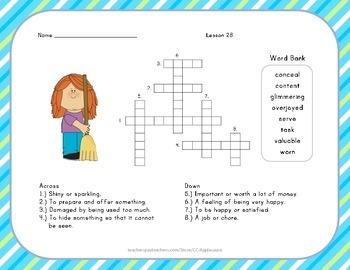 Crossword Puzzle - Yeh Shen - Journeys Aligned