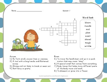 Crossword Puzzle - The Ugly Vegetables - Journeys Aligned