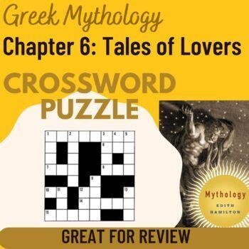 Crossword puzzle based on chapter 6 of Edith Hamilton's Mythology