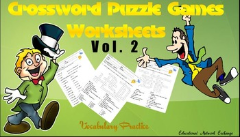 Crosswords Puzzle Games Worksheets Vol.2