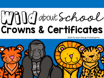 Crowns and Editable Certificates JUNGLE THEME