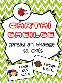 Cártaí Gaeilge - Spreag an Ghaeilge sa Chlós // Encourage