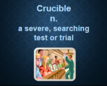 Crucible Vocabulary