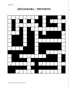 Crucigrama - Crossword - Preterite Tense - Preterito