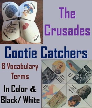 The Middle ages Unit: Crusades Activity/ Foldable - World History